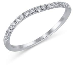 Bony Levy 18K White Gold Diamond Detail Wavy Ring - 0.17 ctw