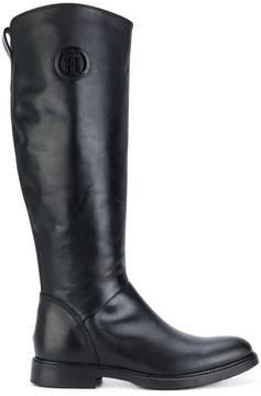 Tommy Hilfiger logo knee-length boots