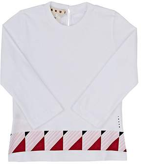 Marni Geometric-Print Cotton Long-Sleeve T-Shirt