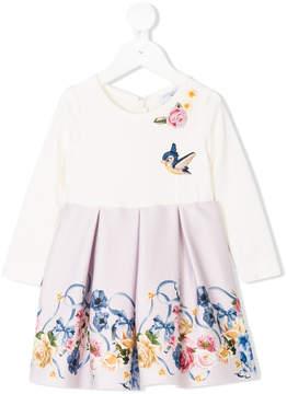 MonnaLisa flower print pleated dress