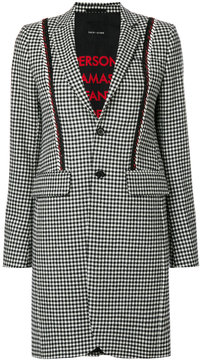Each X Other houndstooth coat with red piping