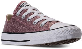 Converse Little Girls' Chuck Taylor All Star Ox Glitter Casual Sneakers from Finish Line