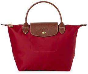 Longchamp Red Le Pliage Small Satchel - RED - STYLE