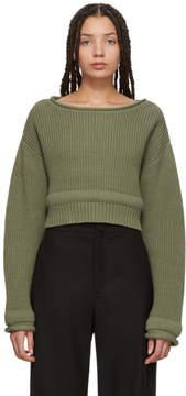 Alexander Wang Green Chunky Trim Sweater