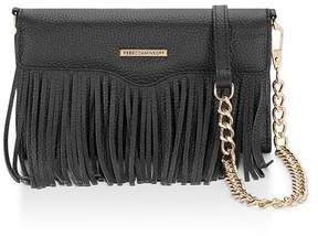 Rebecca Minkoff Fringe Leather Tech Crossbody - METALLIC - STYLE