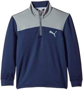 Puma Kids Color Block 1/4 Zip JR Boy's Clothing