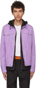 MSGM Purple Denim Jacket