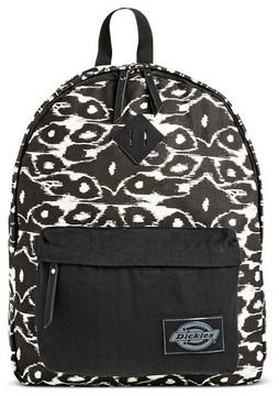 Dickies Women's Canvas Backpack Handbag with Ikat Design and Zip Closure - Pink