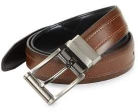 Black & Brown Black Brown Faux Leather Reversible Belt