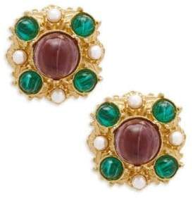 Ben-Amun Crystal Multicolored Clip-On Earrings