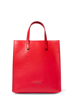 Givenchy Stargate Leather Tote - Red