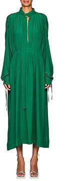 Cédric Charlier Women's Smocked-Waist Long-Sleeve Dress