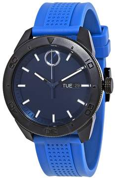 Movado Bold Blue Dial Blue Rubber Men's Watch