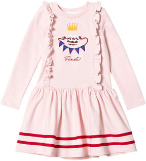 Fendi Pink Frill Front Monster Dress