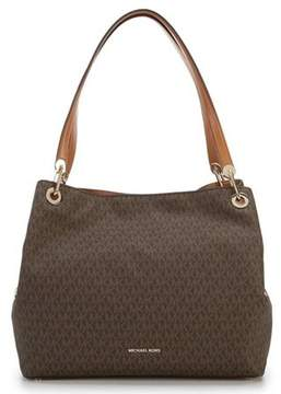 Michael Kors 30H7GRXE4B-200 Signature Raven XL Tote - Brown - MULTICOLOR - STYLE