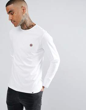 Pretty Green Long Sleeve Jersey T-Shirt In White