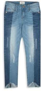 Hudson Girl's Pieced Crop Jeans