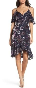 Chelsea28 Women's Cold Shoulder Burnout Velvet Dress