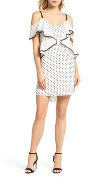Adelyn Rae Polka Dot Convertible Sleeve Dress
