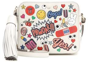 Anya Hindmarch All Over Stickers leather shoulder bag