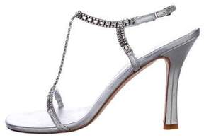 Vera Wang Crystal-Embellished Ankle Strap Sandals