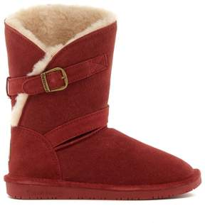 BearPaw Annie Suede Sheepskin Boot with NeverWet