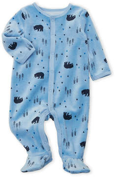 Petit Lem Newborn/Infant Boys) Velour Bear Footie