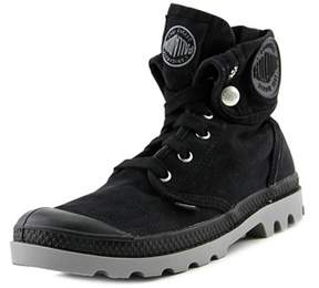 Palladium Baggy Leather S Women Cap Toe Canvas Black Boot.