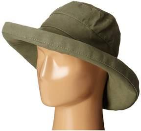 Scala Cotton Big Brim Sun Hat with Inner Drawstring Caps