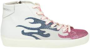 Leather Crown Sneakers Shoes Women