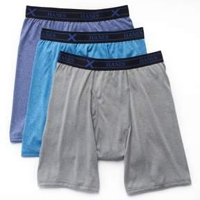 Hanes Big & Tall 3-pack Ultimate X-Temp Longer Leg Boxer Briefs