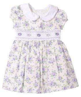 Iris & Ivy Baby Girl's Smocked Puffed Sleeve Dress