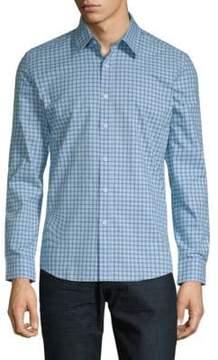 Hyden Yoo Checkered Cotton Slim-Fit Button-Down Shirt