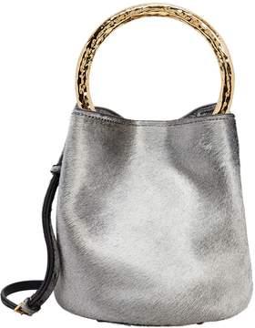 Marni Silver Haircalf Bucket Bag
