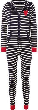 Chinti and Parker Striped Cashmere Onesie - Navy