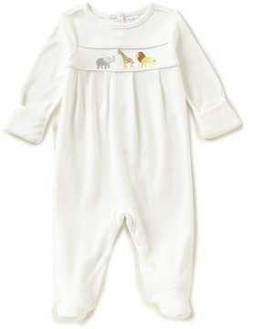 Starting Out Baby Boys Preemie-6 Months Animal Long-Sleeve Footed Coverall