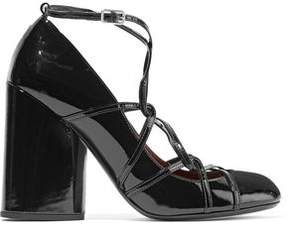 Marc Jacobs Carrie Ghillie Lace-Up Patent-Leather Pumps