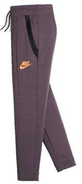 Nike Big Girls' (7-16) Sportswear Tech Fleece Pants-Purple Shade