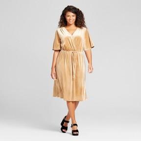 Ava & Viv Women's Plus Size Velvet Wrap Dress