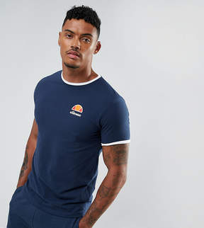 Ellesse Muscle Fit T-Shirt With Small Logo In Navy