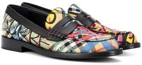 Burberry Graffiti check loafers