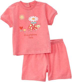 Chicco Girls' 2Pc Pink T-Shirt & Short Set