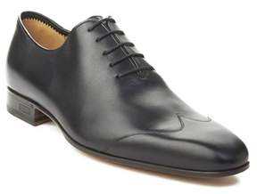 Gucci Men's Crossgrain Leather Oxford Dress Shoes Black.