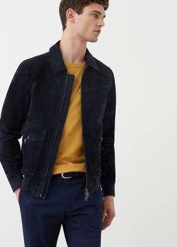 Mango Outlet Suede jacket
