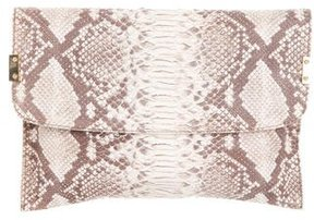 Stuart Weitzman Embossed Clip Over Clutch