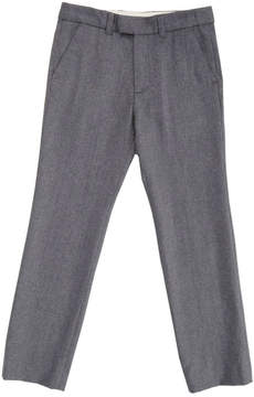 Marie Chantal Boys Flannel Formal Trousers - Grey