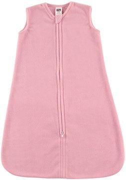 Hudson Baby Light Pink Fleece Sleeping Zip-Up - Infant
