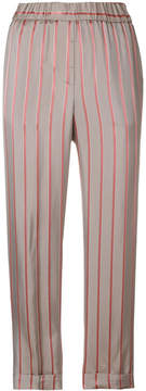 Peserico striped cropped trousers