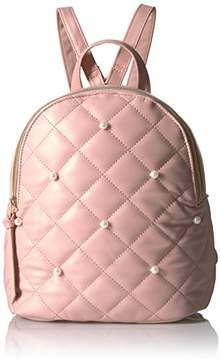 T-Shirt & Jeans Quilted Back Pack with Pearls