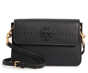 Tory Burch Mcgraw Leather Shoulder Bag - Black